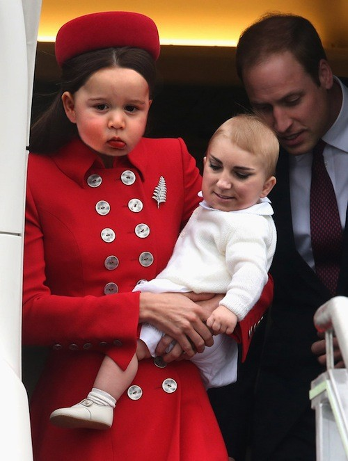 Prince George i the Duchess of Cambridge