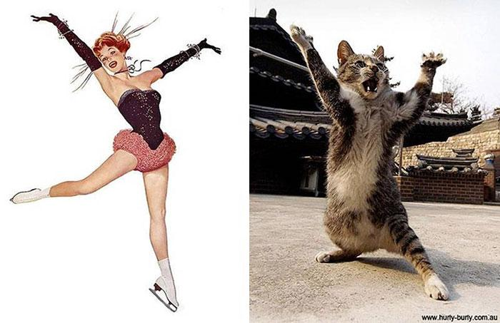 funny-cats-vintage-pin-up-girls-9
